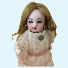 """Small 6 1/2"""" Antique Mohair Doll Wig"""