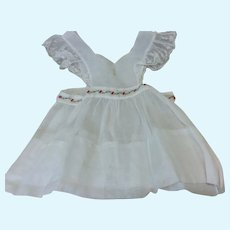 Vintage Hand Embroidered Pinafore Doll or Child