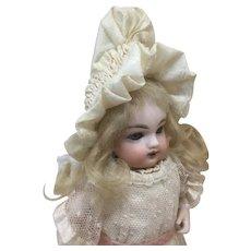 Small Antique Fancy Silk Bonnet for Doll