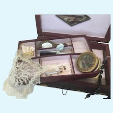 Antique Original Toilette Jewelry Box French Fashion or Bebe