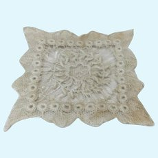 """2 1/2"""" Antique Lace Handkerchief French Fashion"""