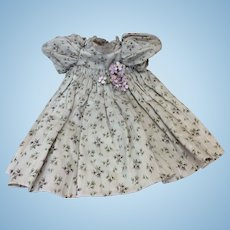 """Antique Original French Hand Sewn Dress for 18-20"""" Bisque Doll"""