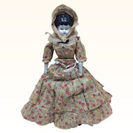 "All Original 9 1/2"" German Low Brow China Doll"