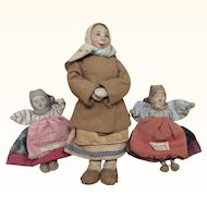 Vintage All Original Russian Folk Art Dolls