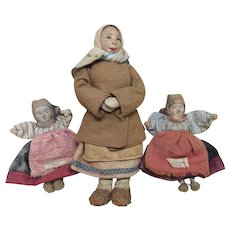 Vintage All Original Russian Folk Art Dolls - Red Tag Sale Item