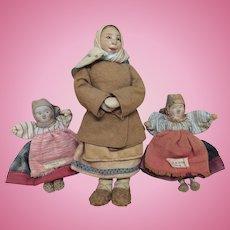 Vintage All Original Russian Folk Art Dolls