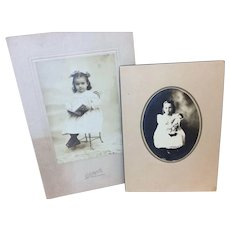 Two beautiful Old  Child Doll Photos