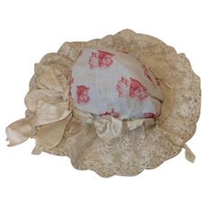 Wonderful Antique French Bonnet for Bisque Doll