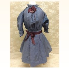Early Cotton Dress for Cabinet Sz Antique Doll