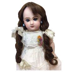 "Fabulous Antique French Human Hair Wig Sz 10"""
