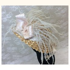 Beautiful Hat for French or German Bisque doll