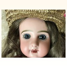 """Darling Closed Mouth Jumeau Sz 6 16"""" Antique Outfit"""