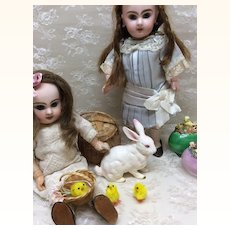 Lovely Vintage Painted Bunny for Easter doll Display