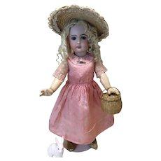 "Gorgeous Antique Silk Bebe Dress 19""-22"" doll"