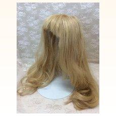 Sz 13 Fabulous Extra Long Blonde Human Hair Wig