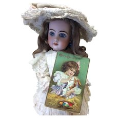 Victorian Easter Series Post Card for Antique Doll Display