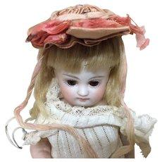 Tiny Antique Silk Bonnet for All Bisque Doll Mignonette