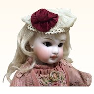 Sweet Beret from Small Antique Doll