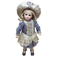 """Two Piece Wool French Couture outfit for 11-13"""" Antique Doll Dress & Hat"""