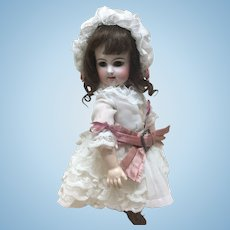 Wonderful Dress and Bonnet for Petite French Bisque Doll