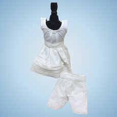 "Nice 3 Pc Slip Camisole Pantaloons for 11-13"" Bisque Doll"