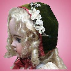 Velvet and Silk Early Bonnet