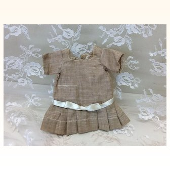 Tiny Antique Dress for All Bisque Doll