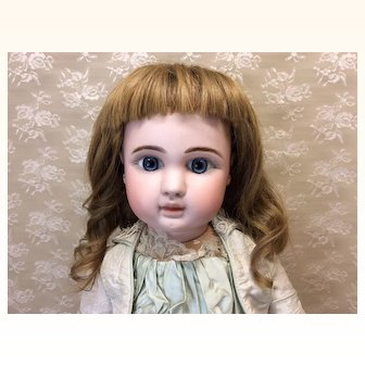 "13"" Antique Human Hair Wig for French German Bisque Doll"