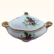 Beautiful Antique French Miniature Soup Tureen Covered Dish