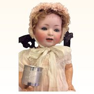 "Sweet 2 inch  ""Darling"" engraved Baby Cup for Antique Doll Display"