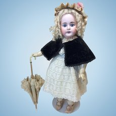 Gorgeous Antique Velvet Beaded Cape for Antique Doll