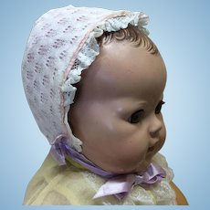 Beautiful Vintage Bonnet for Med to Lg Baby Doll