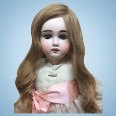 """Early Closed Mouth German Doll 23"""""""