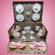 Beautiful Antique French Tea Set in Presentation Box