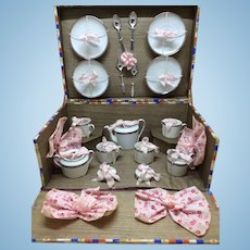Beautiful Antique French Tea Set in Presentation Box