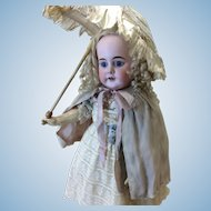 Beautiful Ivory Silk & Pink Reversible Cape French or German Doll