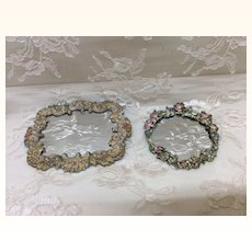 Two Beautiful Vintage Doll House Miniature Mirrors