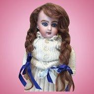"""Antique Bleuette Wig Auburn Mohair 7 1/2"""""""