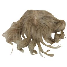 "10"" Blonde Human Hair Wig"