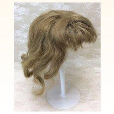 """Antique Dark Blonde Light Brown 11"""" Human Hair Wig"""