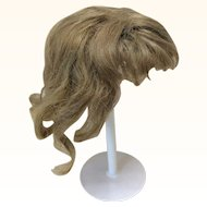 "Antique Dark Blonde Light Brown 11"" Human Hair Wig"