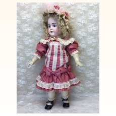 """Antique 22"""" Bisque Doll For French Market"""