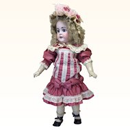 "Antique 22"" Bisque Doll For French Market"