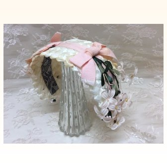 Lovely Woven Headpiece for Mid to Large Size Doll