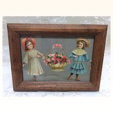Victorian Card in Frame for Doll Display