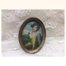 Antique Miniature Doll House Display Framed Print