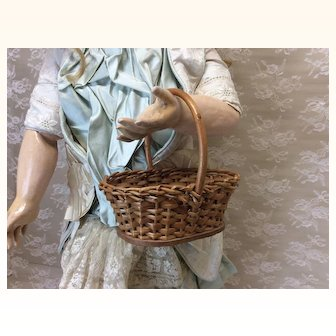 Small Vintage Basket For Doll Display