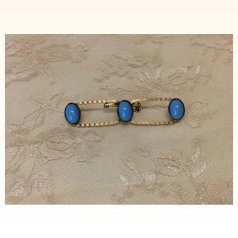 Jumeau Bleu Vintage Pin Brooch Signed Freirich