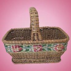 Smaller Antique Basket for Doll Display