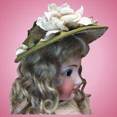 Beautiful Early Silk Bonnet